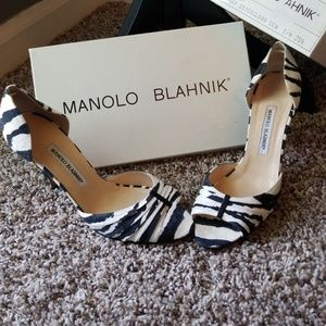 Manolo Blahnik Zebra Heels